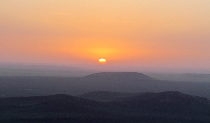 Sunset from Shiliin Bogd Mountain